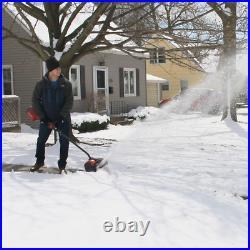 12in 60V Electric Snow Shovel Cordless Wheel Drive Adjustable Handle Plastic New