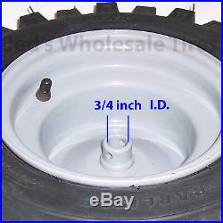 2 16x6.50-8 16/650-8 Snow Blower Thrower Tiller TIRE RIM WHEEL ASSEMBLIES