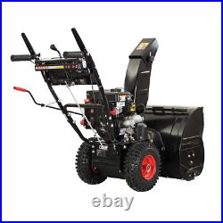 24 in. Two-Stage Gas Snow Blower with Electric Start Removal Cleaning Equipment