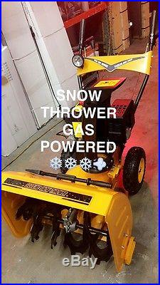 24 inch 212cc Two-Stage Electric Start Gas Snow Blower Snow Thrower 7 HP