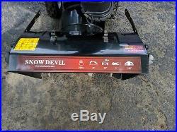 26 Snow Devil Snow Thrower Blower Machine Electric Start 208cc Gas DB7651-26