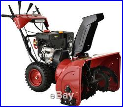26 inch 212cc Two-Stage Electric & Recoil Start Gas Snow Blower Snow Thrower
