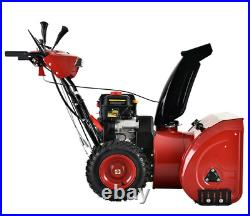28 in. 252cc Two-Stage Electric & Recoil Start Gas Snow Blower Snow Thrower New