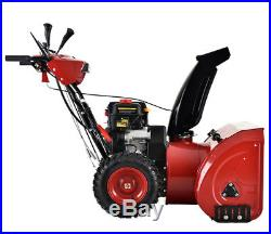 28 inch 252cc Two Stage Electric & Recoil Start Gas Snow Blower Snow Thrower