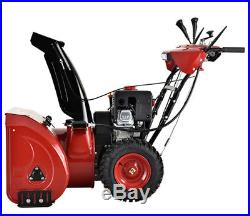 28 inch 252cc Two Stage Electric & Recoil Start Gas Snow Blower / Thrower New