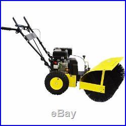 31 Walk Behind snow Sweeper Power Brush Broom Industrial 7hp Gas Engine