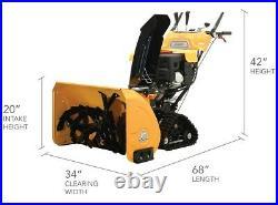 34 375cc Gas Snow Blower Thrower 2 Stage Shovel Walking Heavy Duty