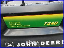 724d John Deere snow blower ready