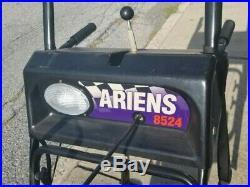 Ariens Platinum 8524 Two-Stage Snow Blower, Orange, Good Condition