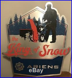 Authentic Original Large ARIENS 24 X 21 DEALER METAL SIGN THE KING OF SNOW