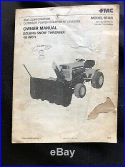 Bolens Large frame HT series Two stage Two Stage snowthrower 48 inch model 18148