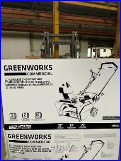 Brand New Greenworks 82V 22 Brushless Dual Port Snowblower