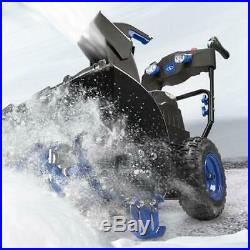 Cordless 2 Stage Snow Blower 24-Inch 80 Volt 4-Speed Electric Driveway Sidewalk
