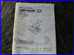 Craftsman Snow Blower 45 Cut, Quad Tires, Headlight, Easy Steer