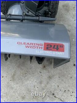 Craftsman Snowblower 24 2-Stage Electric Start Self Propelled Works Good