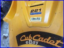 Cub Cadet Snow Thrower 21 Single Stage 208cc OHV Engine 13 Intake H CC-221LHP