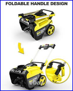 DB2801 21 inch 80 V Single Stage Snow Blower with 6.0 Ah Battery and Charger