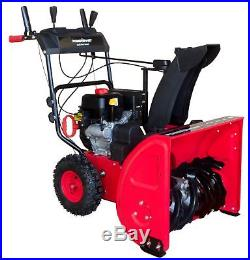 DB7624E 24 inch Two Stage Electric Start Gas Snow Blower