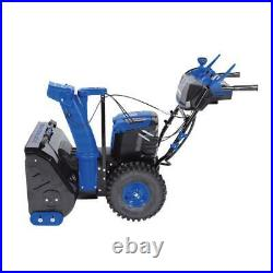 Dual-Stage Snow Blower 100-Volt 24 in. With 2 x 5.0 Ah Batteries and Charger