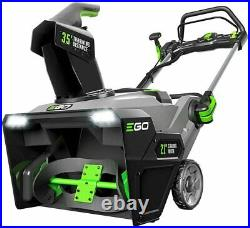 EGO SNT2102 21 Cordless Single Stage Snow Blower with (2) 5AH Batteries & Charge