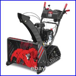 Electric Gas Snow Blower D Track Drive Turn Power Steering Stability Skid Shoes