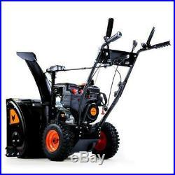 FUXTEC Benzin Schneefräse 7,5PS & 210cc Schneeräumgerät Wintermotor Schnee Fräse