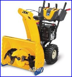 Gas Snow Blower withSteel Chute Power Steering 3-Stage Electric Start Heated Grips