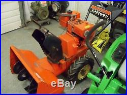 Gilson 8-26 two stage blower no electric start 8hp Briggs engine 26 inch cut