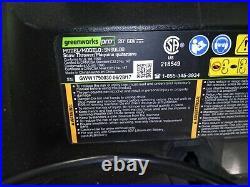 GreenWorks Pro 60V Cordless 20 Brushless Snow Thrower model SN60L00 no battery