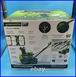 GreenWorks Pro 60V Cordless 20 Brushless Snow Thrower with 6.0 Ah Battery SN60L61