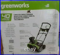 Greenworks 20 Cordless Snowthrower 26272