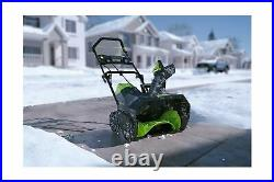 Greenworks 2600402 Cordless Snow Thrower 80V 20 2Ah Battery Charger Included