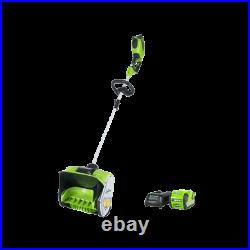 Greenworks 40V 12 Brushless Snow Shovel Blower with 3Ah Battery and Charger