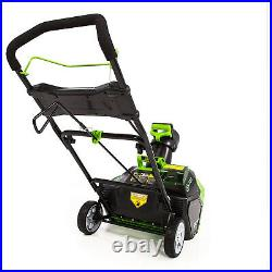 Greenworks 40V Cordless Brushless Motor Snow Blower with Battery and Charger