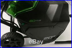 Greenworks PRO 20-Inch 80V Cordless Snow Thrower 2.0 AH 2600402 Easy Fold