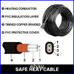 Heat Roof Gutter 138 Ft Snow De-icing Ice Melter Cable Tape Kit & Thermostat