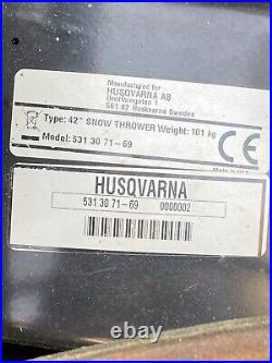 Husqvarna 42 Snowthrower Snowblower Model 531 30 71-69