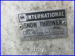 International Harvester Cub Cadet Snow Thrower