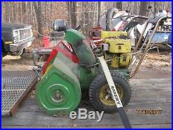 John Deere 7 hp 26 snow blower with electric start. Runs excellent $350