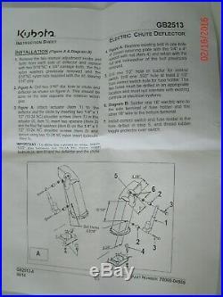 For Kubota BX5450 Snowblower and more.Similar to GB2513. Chute Deflector kit