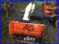Kubota tractor B2551 snowblower front mount