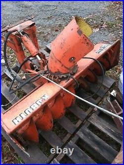 Kubota tractor snowblower Snow Thrower w front pto and belt