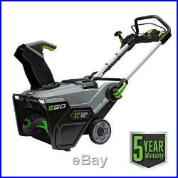 Lithium Ion 56 Volt Ego Single Stage Cordless Electric Snow Blower 21 In