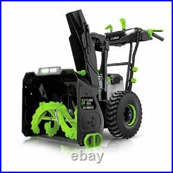NEW! EGO 24 Cordless Snow Blower Kit With (2)7.5Ah Batteries & Charger