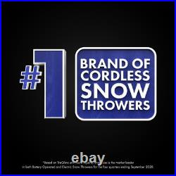 New Cordless Electric Snow Thrower Shovel Kit with Battery and Charger Included