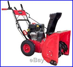 Power Smart DB7624E1 24in. 2-Stage Electric Start Gas Snow Blower