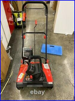 PowerSmart Cordless Snow Blower 18 in. 40-Volt Lithium-Ion Plastic Paved Manual