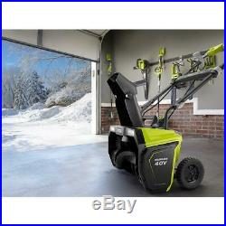 RYOBI 20 40V Brushless Cordless SingleStage Electric SnowBlower Battery/Charger
