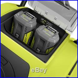 RYOBI 21 in. 40-Volt Brushless Cordless Elect. Snow Blower with2 Batteries&Charger