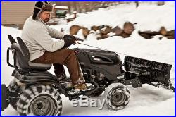 Riding Mower Snow Plow Snow Removal Winter Equipment Move Dirt Mulch Rocks